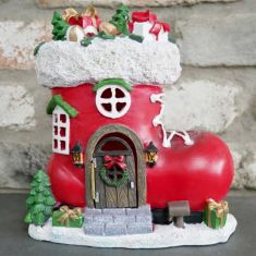 Santa Boot Shaped Elf House Christmas Decoration