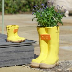 Daddy and Me Personalised Wellington Boot Planter Gift Set