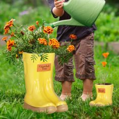 Mummy and Me Personalised Wellington Boot Planter Gift Set