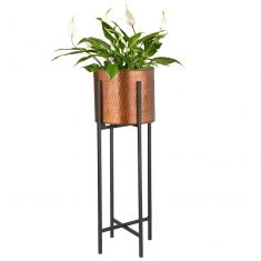 Copper Standing Metallic Planter