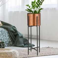 Copper Standing Metallic Planter