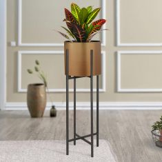 Brass Standing Metallic Planter