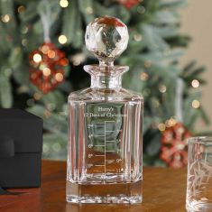 Personalised 12 days of Christmas Luxury Crystal Advent Decanter
