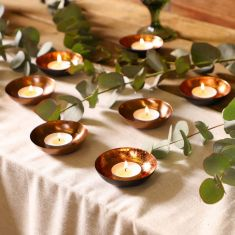 Copper Tea Light Table Centrepiece Collection