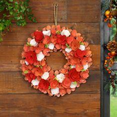 Rosewood Bloom Pink Autumn Wreath