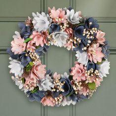 Cornflower Fields Pink & Blue Autumn Wreath