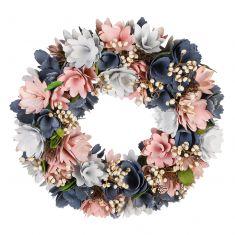 Cornflower Fields Pink & Blue Summer Wreath