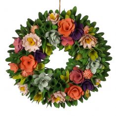 Secret Garden Multicoloured Summer Wreath