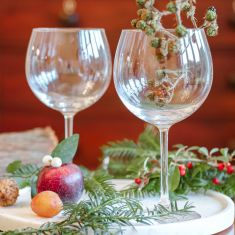 Set Of Two Handmade Copa Gin Glasses