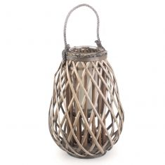 Raindrop Willow Wicker Candle Lantern
