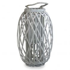 Tall Willow Wicker Candle Lantern
