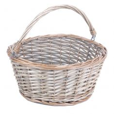 Grey Wash Wicker Basket