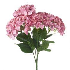 Pink Artificial Hydrangea Bunch
