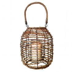 Wicker Branch Traditional Candle Lantern