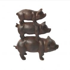 Cast Iron Piggyback Garden Decoration