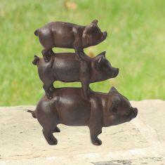 Cast Iron Piggyback Garden Decoration