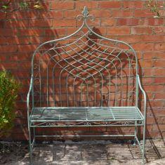 Fleur De Lys High Backed Garden Bench