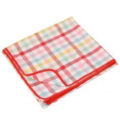 Chantilly Pastel Finish Gingham Picnic Blanket