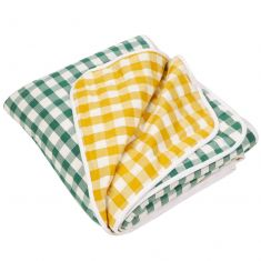 Extra Large Reversible Gingham Quilted Picnic Blanket