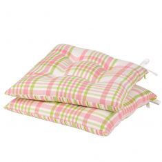 Set of 2 Patterdale Plaid Tie-On Seat Pads