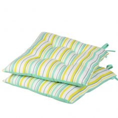 Set of 2 Citrus Striped Alfresco Garden Seat Pads