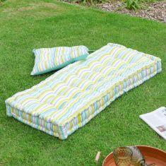 Citron Striped Garden Cushion Collection