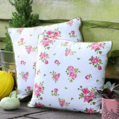 Helmsley Blush Large Floral Print Scatter Cushion