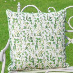 Extra Large Botanical Green Garden Chair Cushion