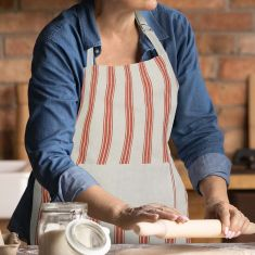 Vintage Style Bakers Stripe Kitchen Apron