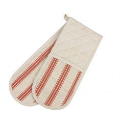 Vintage Bakers Stripe Oven Gloves