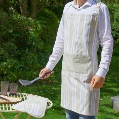 Millstone Blue Striped Cotton Barbecue Apron