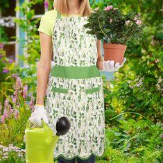 Meadowbrook Botanical Scalloped Gardening Apron