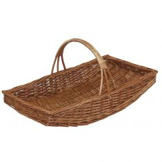 Curved Willow Wicker Natural Garden Trug