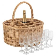 Alfresco Wicker Party Basket