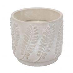 Alfresco Citronella Candle in Concrete Leaf Pot