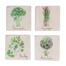 Set of 4 Botanical Allotment Coasters