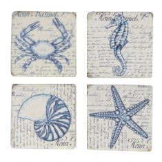 Set of 4 Nautical Sea Creature Coasters