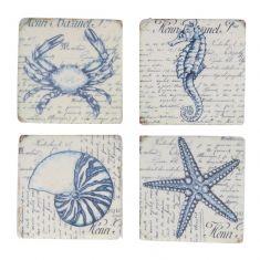 Set of 4 Nautical Sea Creature Coasters