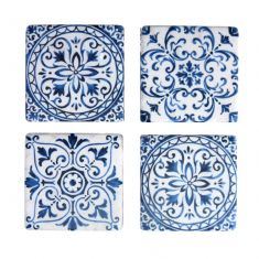 Set of 4 Mediterranean Tile Coasters