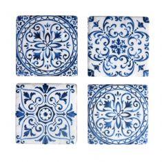 Set of 4 Mediterranean Tile Coasters