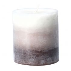 Ombre Coconut Scented Pillar Candle