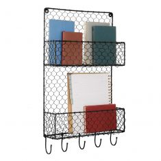 Two Compartment Industrial Style Wall Shelving Unit