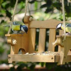 Hanging Garden Swing Bird Feeder Tray