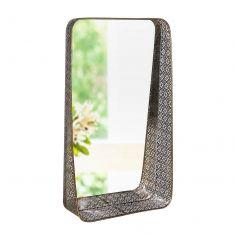 Ornate Scrolled Mirrored Wall Shelf