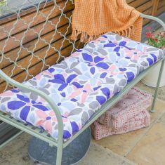 Summer Flowers Pastel Garden Bench Cushion