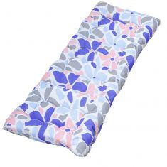 Summer Flowers Pastel Garden Bench Cushion