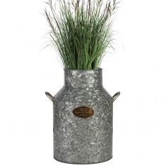 Rustic Galvanised Milk Churn Vase