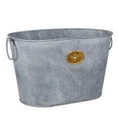 Antique Zinc Effect Bee Planter Bucket
