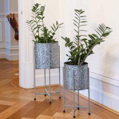 Set of 2 Indoor Standing Planters