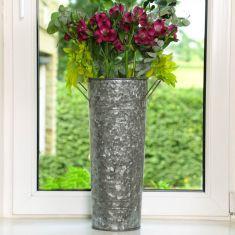 Large Galvanised Florist's Bucket